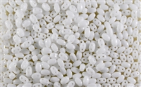 SUPERDUO BEADS 2.5x5mm 8 Grams OPAQUE CHALK WHITE