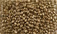 SUPERDUO BEADS 2.5x5mm 8 Grams MATTE BRASS