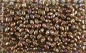 SUPERDUO BEADS 2.5x5mm 8 Grams MATTE METALLIC RAINBOW