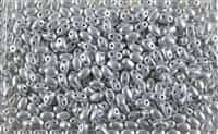 SUPERDUO BEADS 2.5x5mm 8 Grams MATTE SILVER