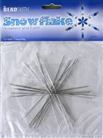 "BeadSmith Snowflake Ornament Wire Forms, 4.5"" Wide"