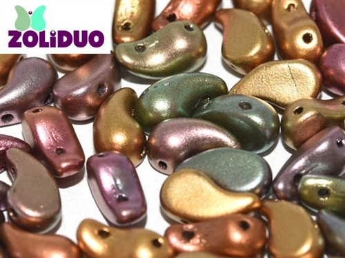 ZoliDuo-K0164-R - ZoliDuo 5x8mm - Purple Iris Gold - Right Version - 12 count