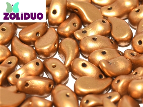 ZoliDuo-K0174-R - ZoliDuo 5x8mm - Brass Gold - Right Version - 12 count