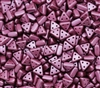 eMMA-25031 - 3x6mm 3 Hole Triangle Beads - Pastel Burgundy - 25 Beads