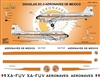1:144 Aeronaves de Mexico (60's cs) Douglas DC-3