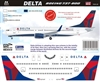 1:144 Delta Airlines (2007 cs) Boeing 737-800