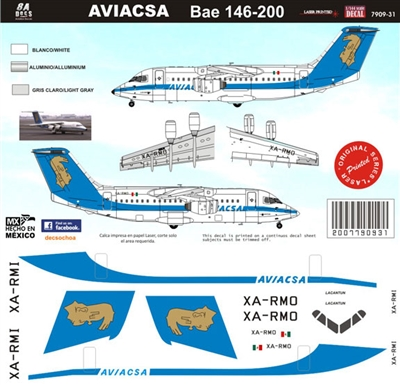 1:144 Aviacsa (90's cs) BAE 146-200