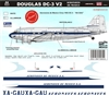 1:144 Aeronaves de Mexico (50's cs) Douglas DC-3