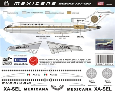 1:144 Mexicana Boeing 727-100