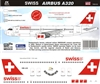 1:144 Swiss Airlines Airbus A.319