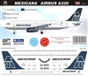1:144 Mexicana (2007 cs) Airbus A.320