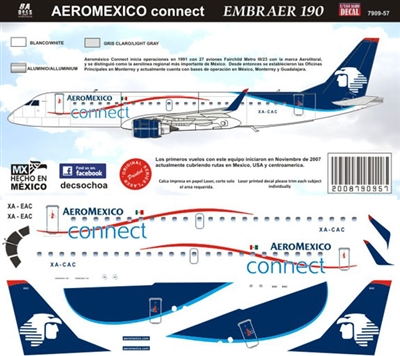 1:144 AeroMexico Connect Embraer 190