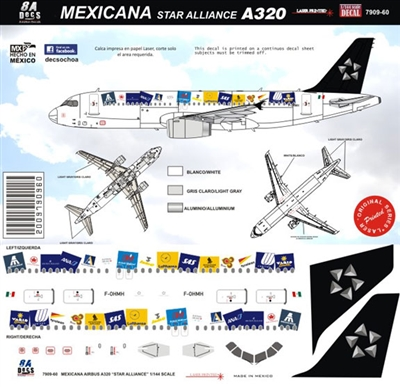 1:144 Mexicana 'Star Alliance' Airbus A.320