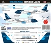 1:144 Mexicana (2009 cs) Airbus A.320