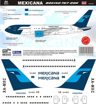 1:144 Mexicana (2009 cs) Boeing 767-200