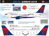 1:144 Delta Airlines (2007 cs) Airbus A.319