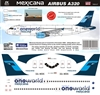 1:144 Mexicana 'OneWorld' Airbus A.320