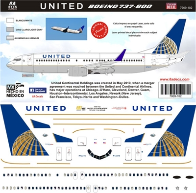 1:144 United Airlines Boeing 737-800