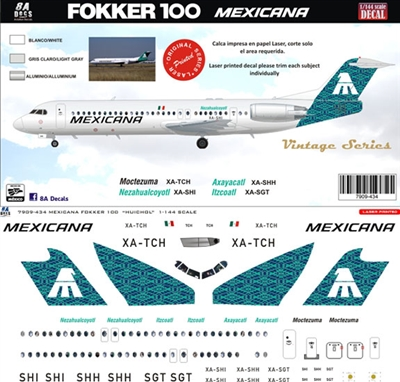 1:144 Mexicana (green) Fokker 100