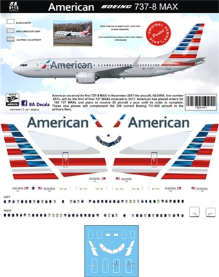 1:144 American Airlines Boeing 737-MAX8