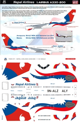 1:144 Royal Nepal Airlines Airbus A.330-200