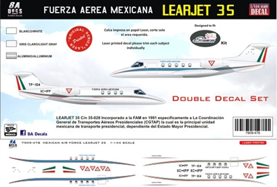 1:144 F.A. Mexicana Gates Learjet 35