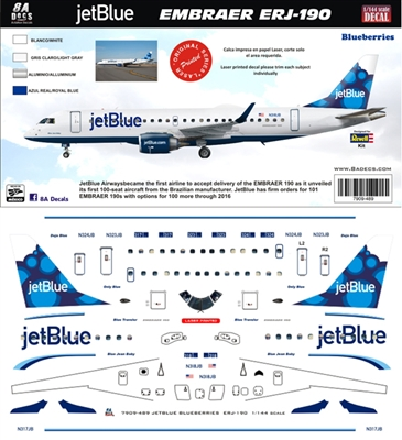 1:144 JetBlue Embraer 190 (Blueberries cs)