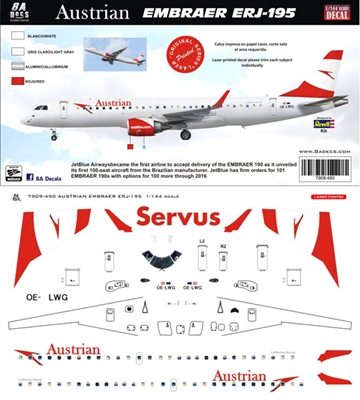 1:144 Austrian Airlines Embraer 195