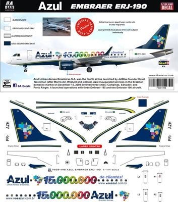 1:144 Azul Embraer 190 '15,000,000 Client'
