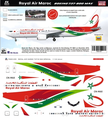 1:144 Royal Air Maroc Boeing 737-MAX8