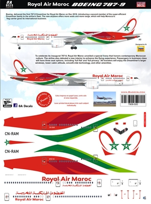 1:144 Royal Air Maroc Boeing 787-9
