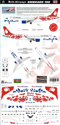 1:144 Buta Airways Embraer 190