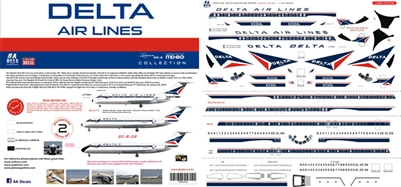 1:144 Delta Airlines Douglas DC-9 & McDD MD-88