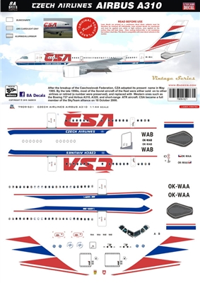 1:144 CSA Czech Airlines Airbus A.310-300