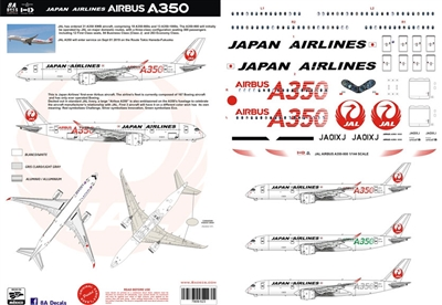 1:144 Japan Airlines Airbus A.350-900 (JA01XJ, red details)