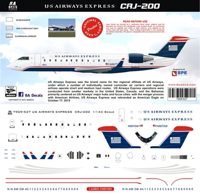 1:144 US Airways Express Canadair CRJ200