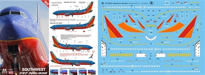 1:144 Southwest Airlines ('Canyon Blue' cs) Boeing 737-700, -800
