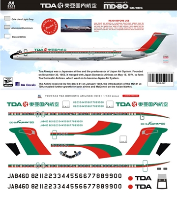 1:144 Toa Domestic Airlines (TDA) McDD MD80