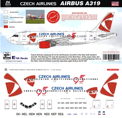 1:144 Czech Airlines Airbus A.319