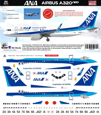 1:144 All Nippon Airways Airbus A.320NEO
