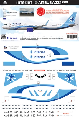 1:144 Interjet Airbus A.321NEW