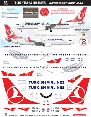 1:144 THY Turkish Airlines Boeing 737-800 or 737-MAX8