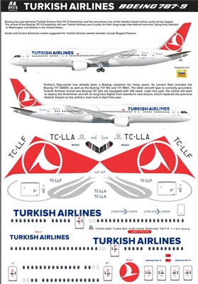 1:144 THY Turkish Airlines Boeing 787-9
