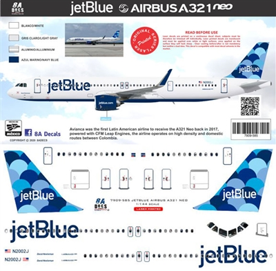 1:144 JetBlue Airbus A.321NEO