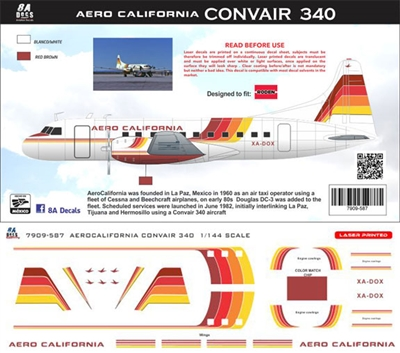 1:144 AeroCalifornia Convair 340