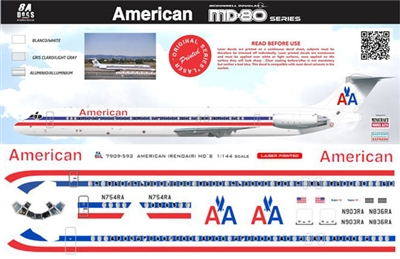 1:144 American Airlines (ex Reno Air) McDD MD80 / 87 / 90