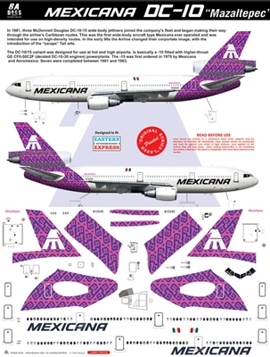 1:144 Mexicana McDD DC-10-15 'Mazaltepec' (Purple cs)