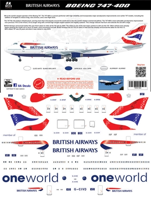 1:144 British Airways Boeing 747-400