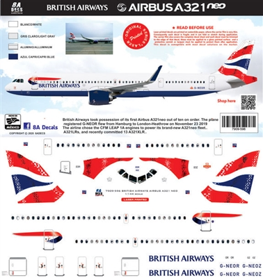 1:144 British Airways Airbus A.321NEO