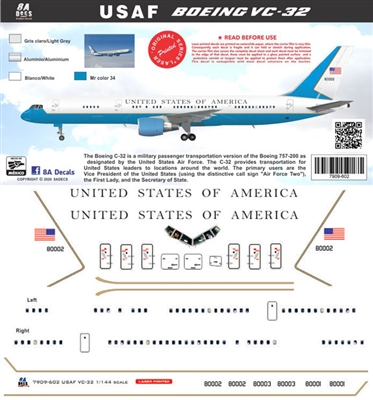 1:144 United States of America (VIP) Boeing C-32A (757-200)